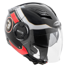 ROCC 281 Jet helmet black/red