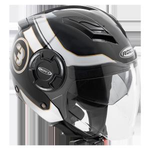 Мотошлем ROCC 281 Jet helmet black/white