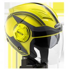 ROCC 282 Jet helmet neon yellow