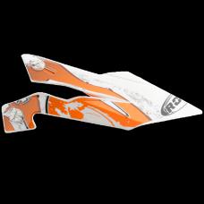 ROCC 722 helmet peak funky orange