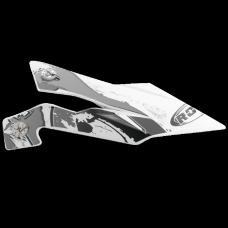 ROCC 722 helmet peak funky silver
