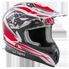 ROCC 742 offroad helmet black/red