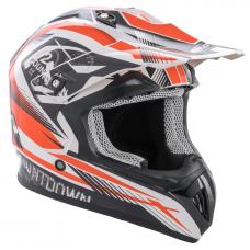ROCC 742 offroad helmet black/orange