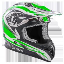 ROCC 742 offroad helmet black/green